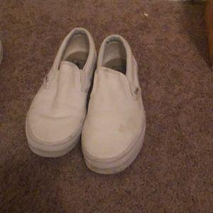 White Van Slip Ons